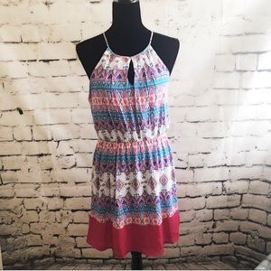 🛍 PINK OWL Printed Multi-Colored Summer Dress L